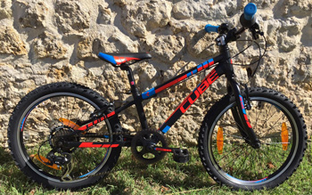 cycle, cycles et nature : magasin de vente et de reparation de velo a bordeaux, Vélo enfant CUBE Kid 200 black