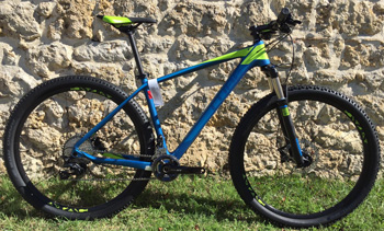 cycle, cycles et nature : magasin de vente et de reparation de velo a bordeaux, VTT CUBE Reaction GTC Pro 2x 29 2016 KIWI