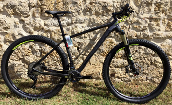cycle, cycles et nature : magasin de vente et de reparation de velo a bordeaux, VTT CUBE Reaction GTC SL 29 2016