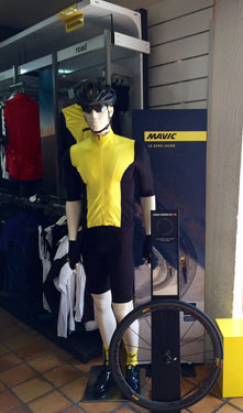 cycles et nature : magasin de vente et de reparation de velo a bordeaux, Mavic textile
