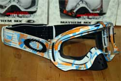 cycle, cycles et nature : magasin de vente et de reparation de velo a bordeaux, lunette et masque oakley mtb, vtt, dh, velo de route, mx,  crowbar blue orange digi-slash