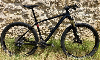 cycles et nature : magasin de vente et de reparation de velo a bordeaux, VTT CUBE REACTION SL CARBONE 27.5''  occasion